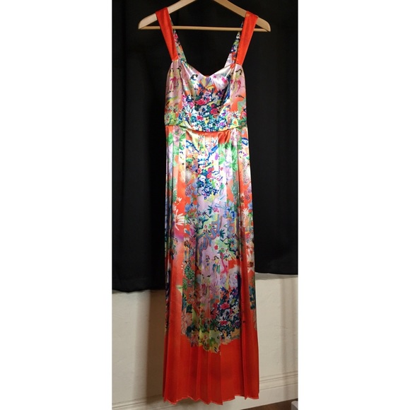 0b52e644a2a H M Dresses   Skirts - Orange H M Hawaiian Print Maxi Dress